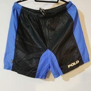 Vintage RALPH LAUREN POLO SPORT Black Blue Short M